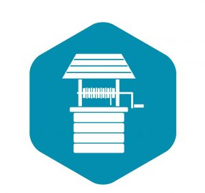 Water well icon. Simple illustration of water well vector icon for web design